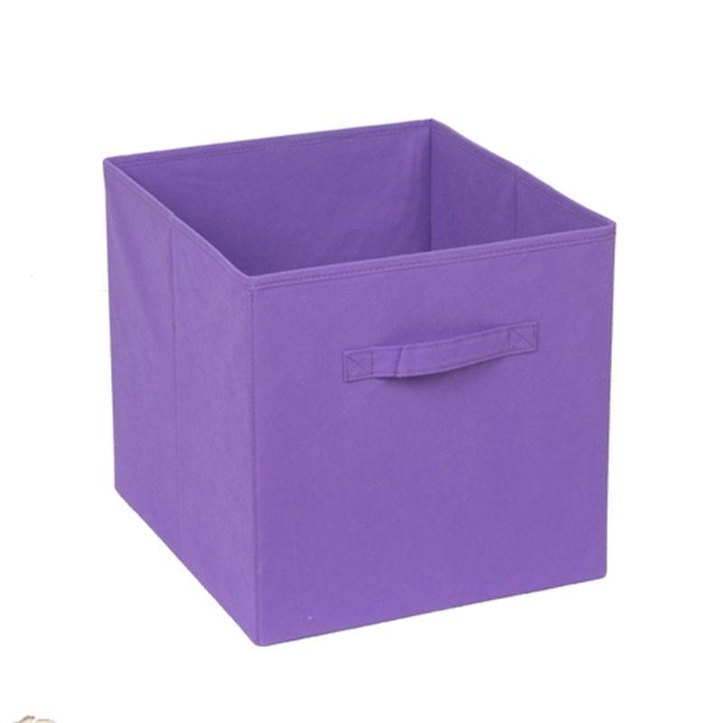 Handy Strorage 330 X 330 X 370mm Clever Cube Purple Fabric Storage Drawer  I/N
