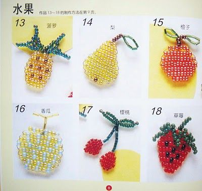 Beaded Fruits With Images Beads Craft Kids Beaded Crafts
