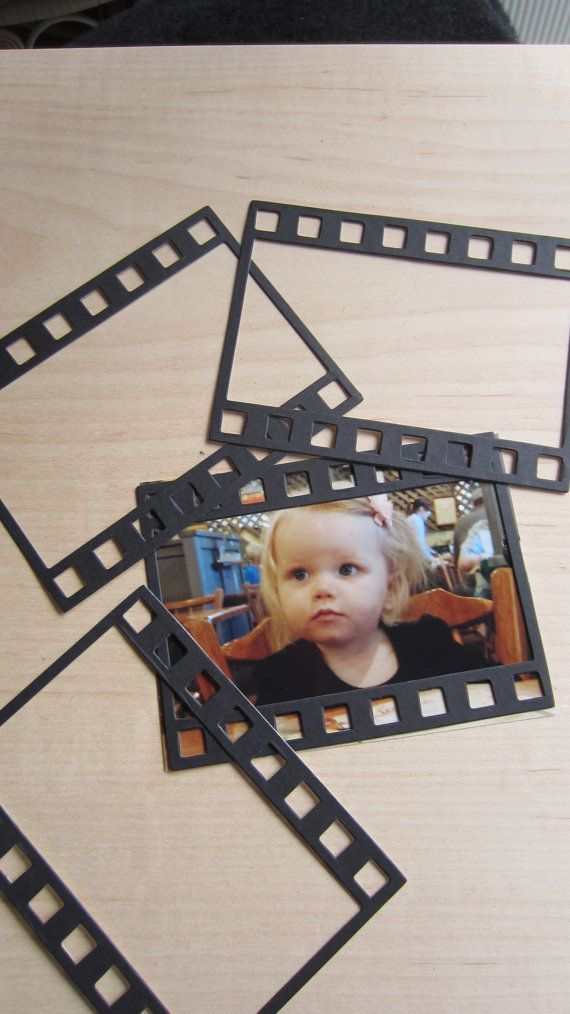 Photo Strip Frames-Film Strip-Stiffened Felt Black Film Strip Frame-Party Shapes-DIY Wedding Decorations-Scrapbook Frames