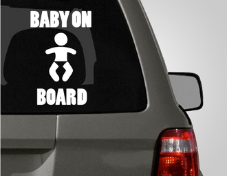 Baby On Board Car Decal Sticker Vinyl Pinterest Cars Car - Car decal maker online