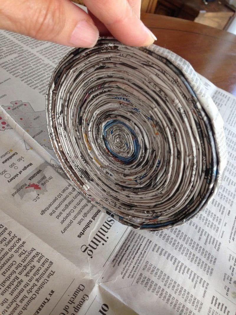 Artesanato com jornal mais voce