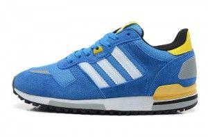 best loved dd16f 2de6d ... 50% off uomo adidas zx 700 pelle scarpe da corsa blu giallo grigio  chiaro bianco