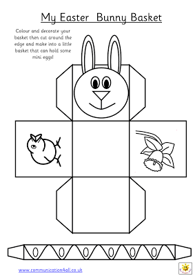 graphic relating to Easter Basket Printable known as early perform templates: Require in the direction of deliver a easy easter basket