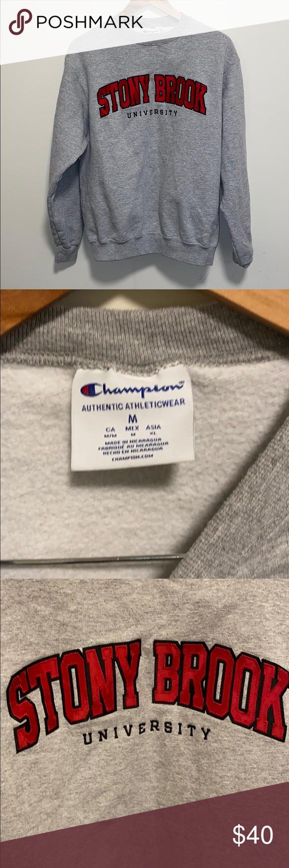 Stony Brook Hoodie Hoodies Grey Sweater Clothes Design [ 1740 x 580 Pixel ]