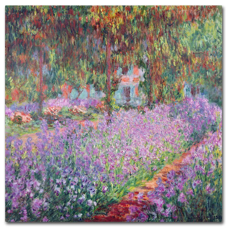 The artists garden at giverny by claude painting
