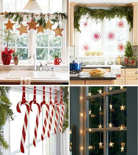Decoración navideña de ventanas Navidad and Ideas para