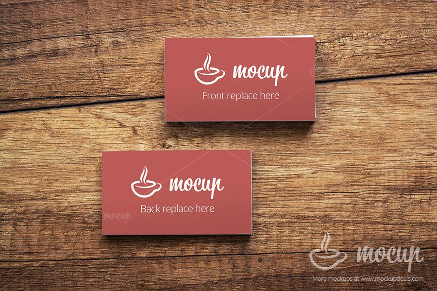 Free PSD Business Card Mockups On Wooden Table Present Your Corporate Identity Better Our Mocups Are Really Easy To Use Because Of Using S
