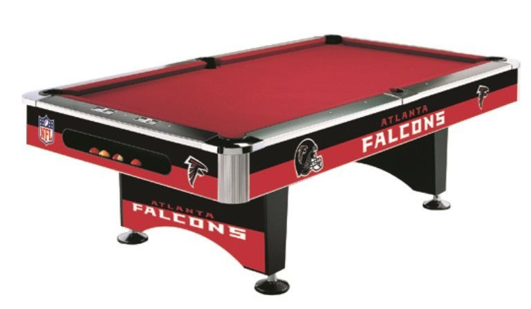 Atlanta Falcons 8' Pool Table