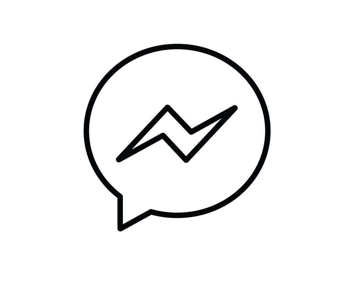 Facebook Messenger Icon Vector Black Outline Png Jpg Svg Iphone Photo App App Icon Snapchat Icon