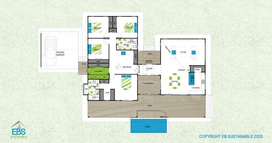 LPR 262 Contemporary Home Designs Floor Plan Bush House | House ...