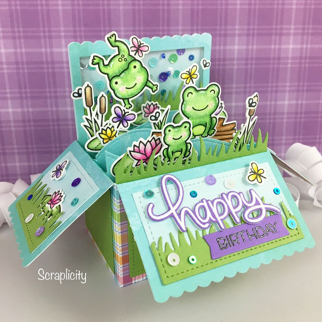 love making these pop up box cards they're little labors
