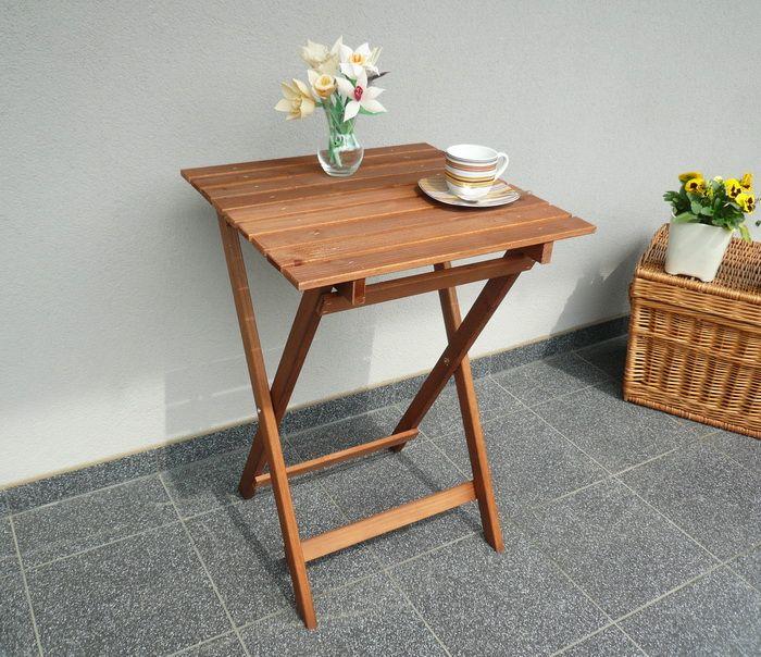 Stolik Stół Drewniany Składany Balkonowy Piknikowy Balkony