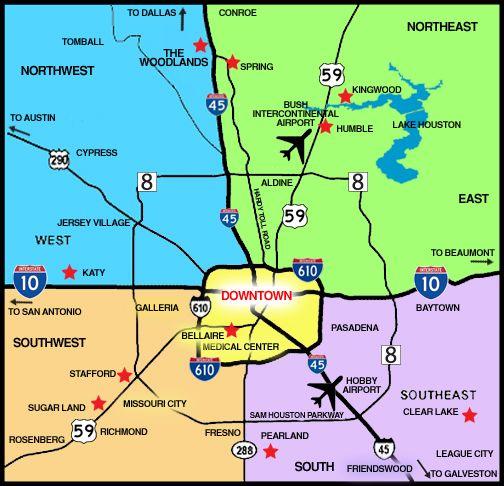 Houston Suburbs Map houston map suburbs   Google Search | AVDA | Houston map, Houston, Map