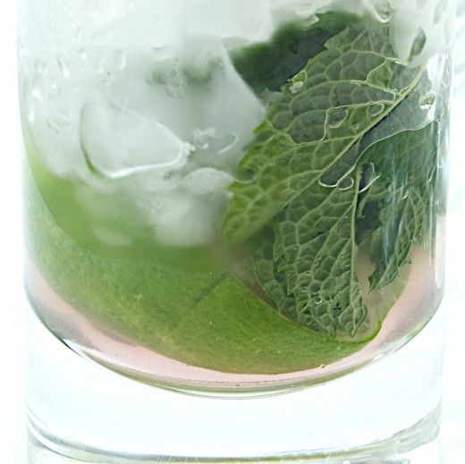 Lavender Simple Syrup and Mint