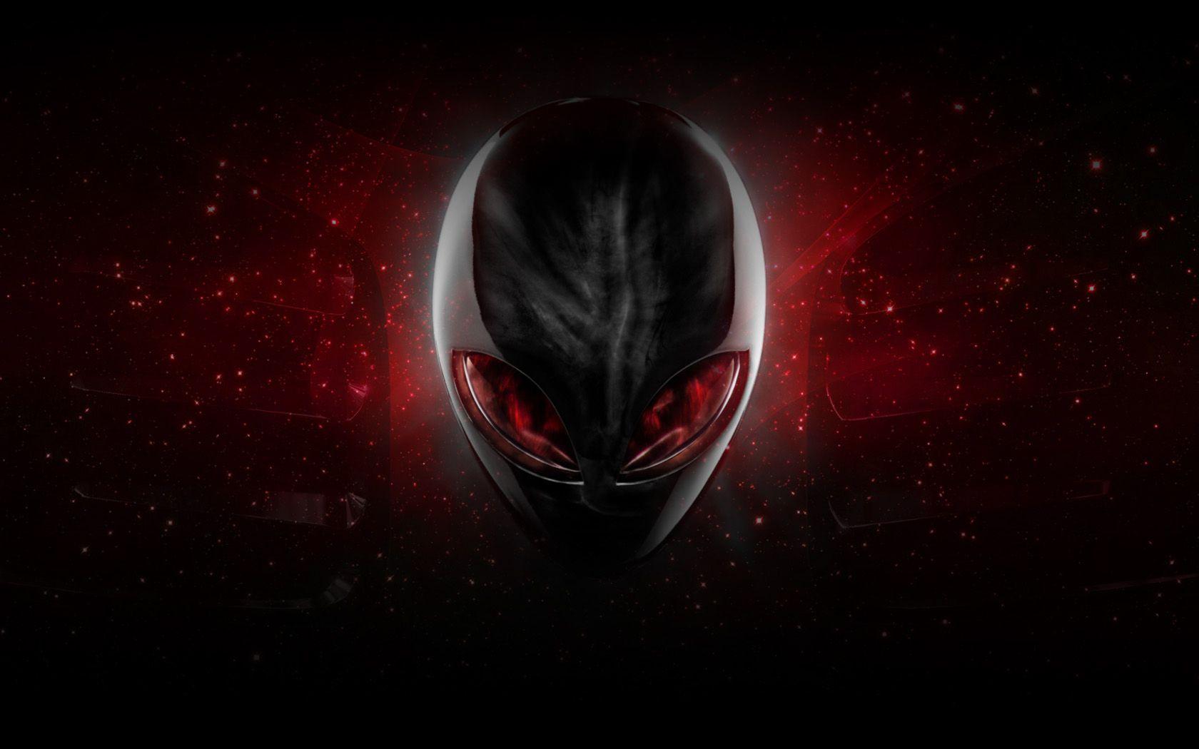 Alienware desktop background red alien head by - Alien desktop ...