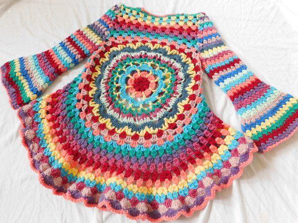 Häkelanleitung Kreisjacke Lotta In Größe 8692 Bis 158164 Crochet