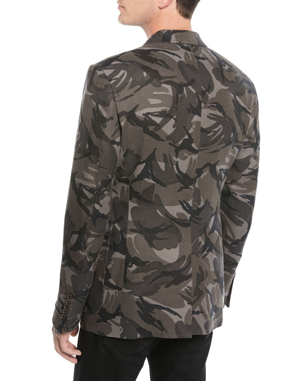 e3e9cd2ce0af2 Tom Ford Men's Camouflage-Print Linen Two-Button Jacket   Products ...