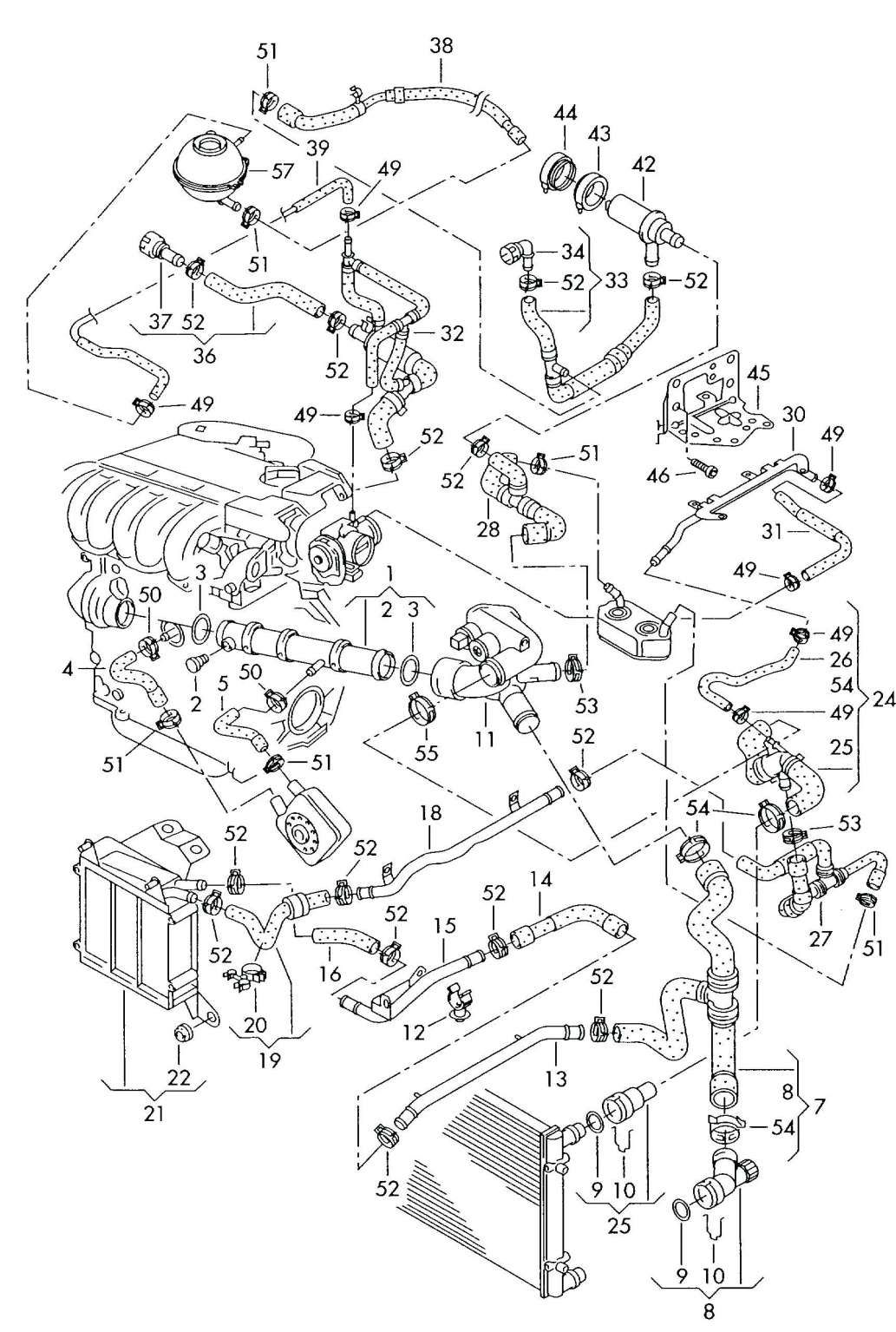 audi a3 engine wiring diagram and gti fsi engine diagram - getting started  of wiring diagram | vw up, vr6 engine, vw jetta  pinterest