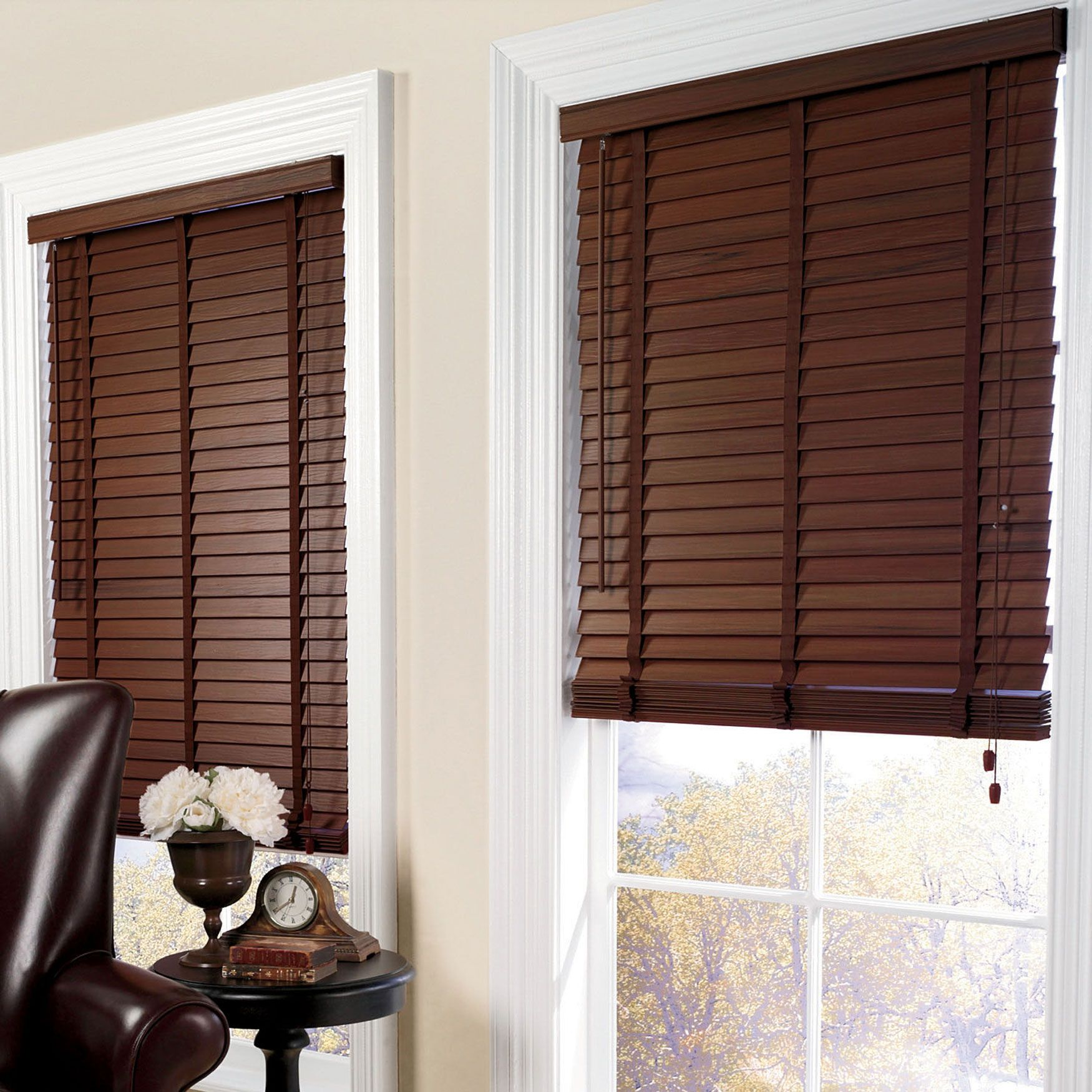 "2"" Wide Faux Wood Blinds"