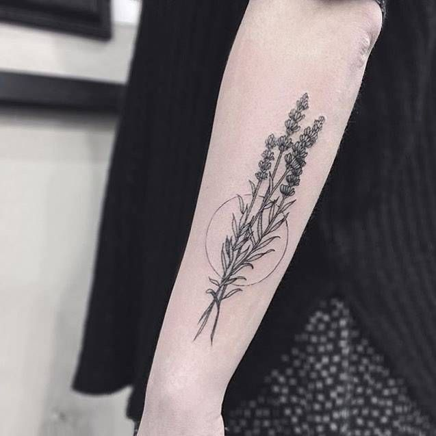 Illustrative Lavender Tattoo On The Left Forearm Little Tattoos For Men And Women Lavender Tattoo Tattoos Trendy Tattoos