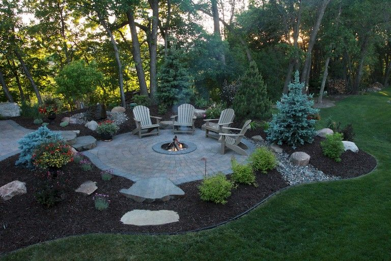 34 Modest Fire Pit And Seating Area For Backyard Landscaping Ideas
