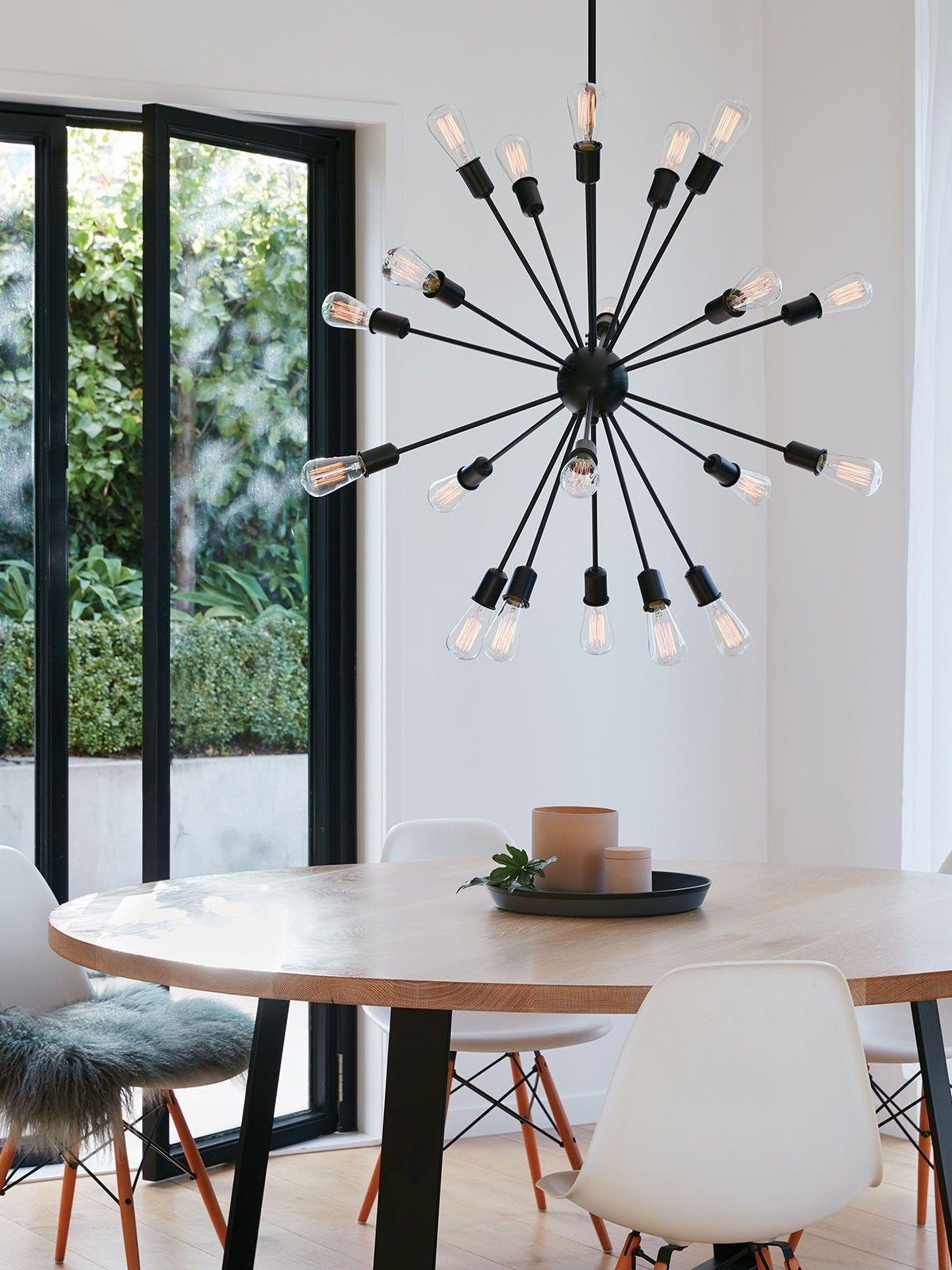 Malling 20 Light Pendant In Black  Mid Century House  Pinterest Classy Pendant Lighting For Dining Room 2018