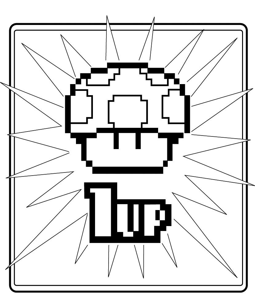 Super Mario Colouring Page