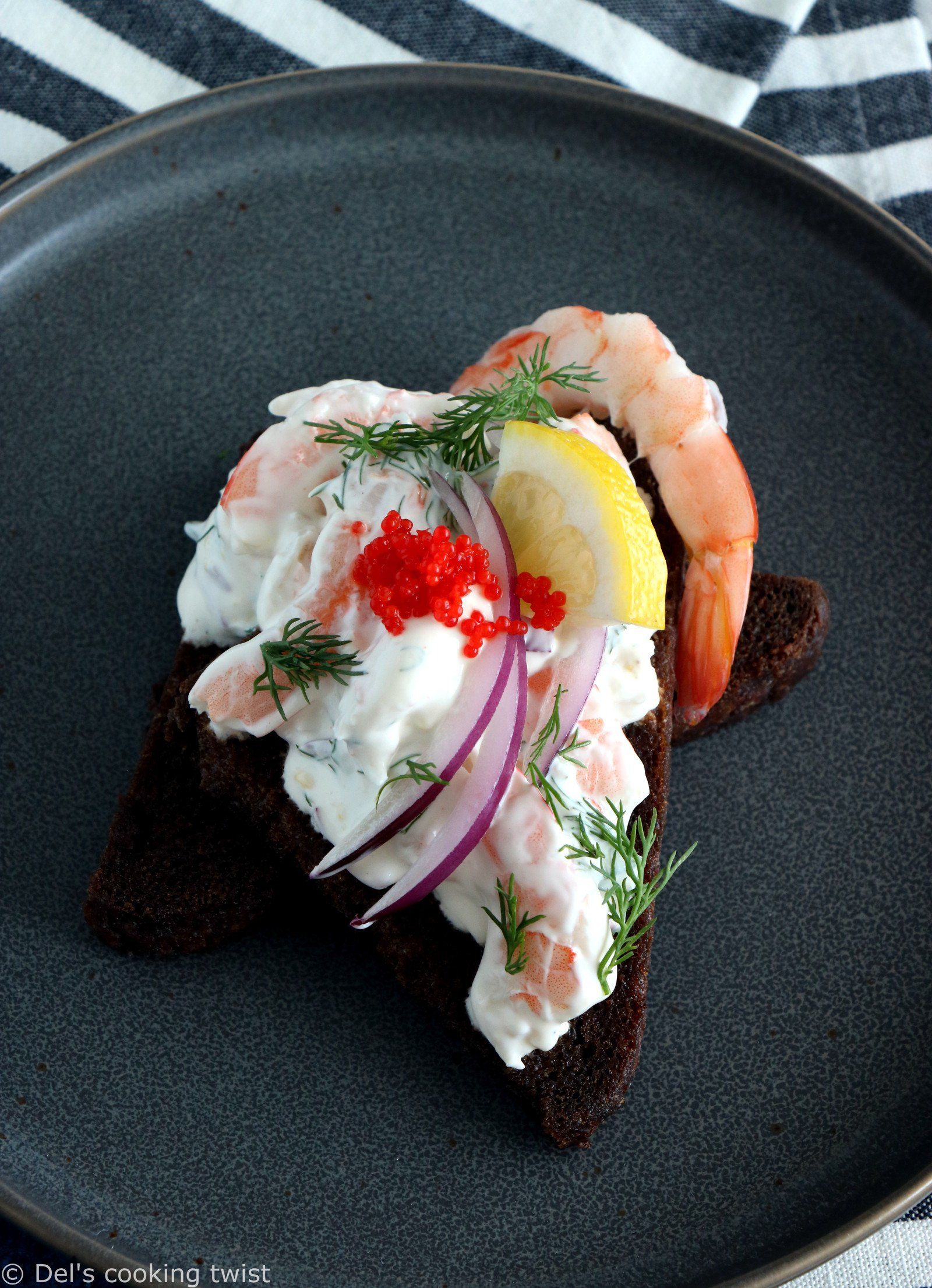Swedish Toast Skagen (Prawn Toasts): 2 ways! | Del's cooking twist