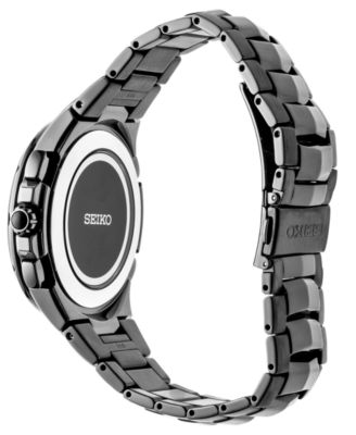 Seiko Men S Radio Sync Solar Chronograph Coutura Black Stainless Steel Bracelet Watch 44 5mm Reviews All Fine Jewelry Jewelry Watches Macy S Stainless Steel Bracelet Black Stainless Steel Seiko Men