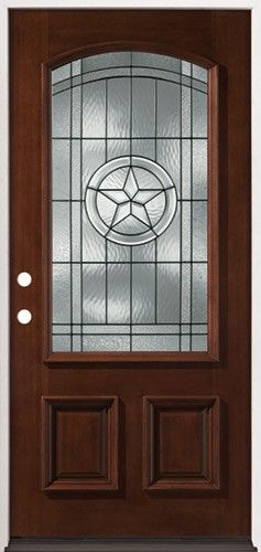 3 4 Arch Mahogany Wood Entry Texas Star Front Entry Door From Door Clearanc