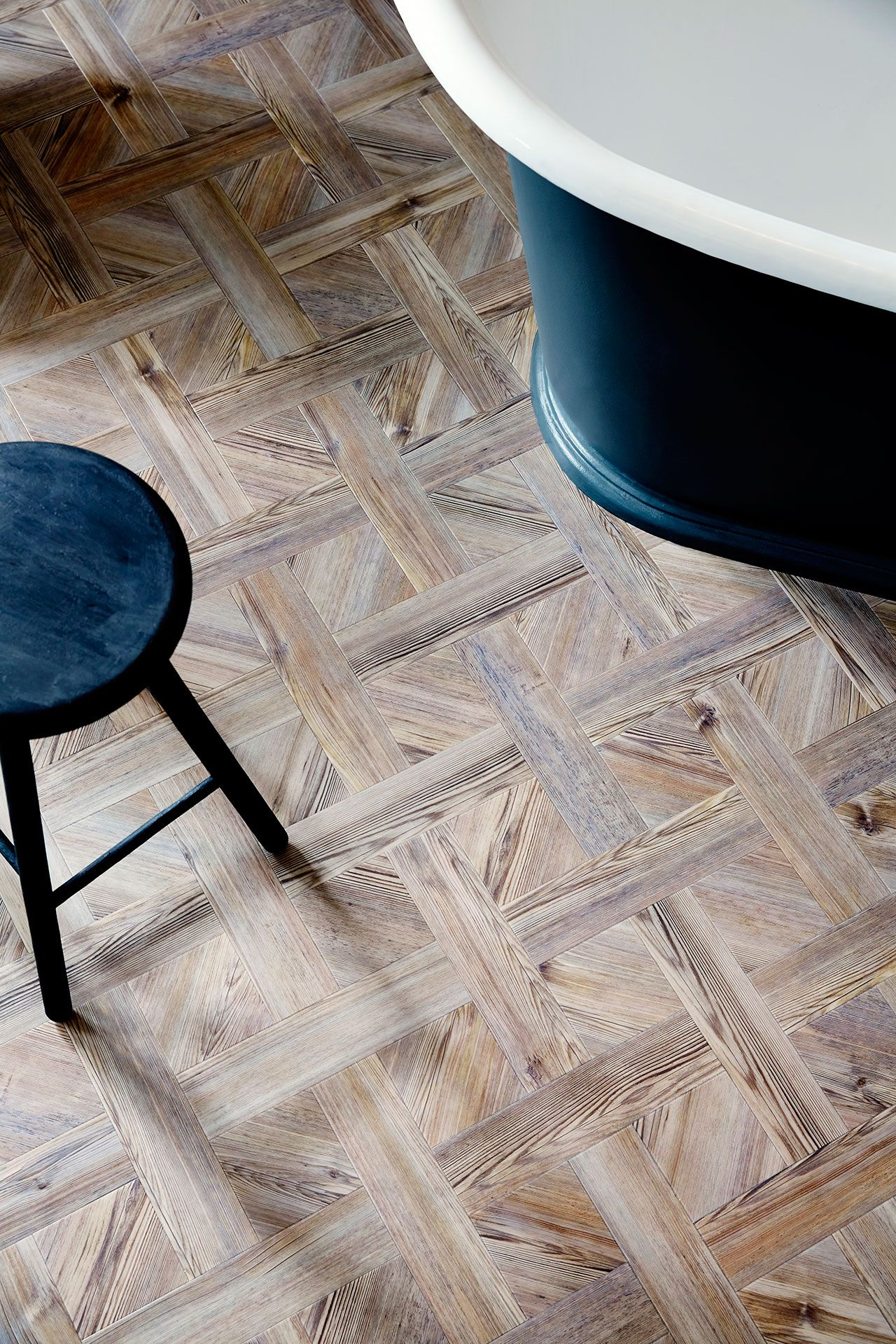 Amtico Signature LVT In Parisian Pine ARW In A Basket Weave - Basket weave vinyl flooring