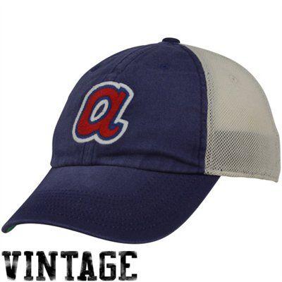 detailed look f8c82 cbefe ... nike atlanta braves royal blue heritage 86 cooperstown vintage relaxed  mesh back adjustable hat. for