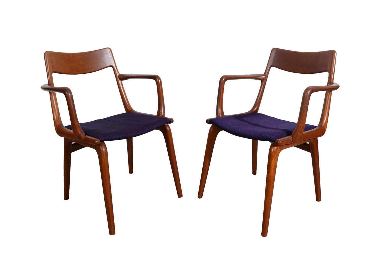 Boomerang Dining Chairs Designed By Erik Christensen For Slagelse  Mobelvaerk Teak Dining Chair