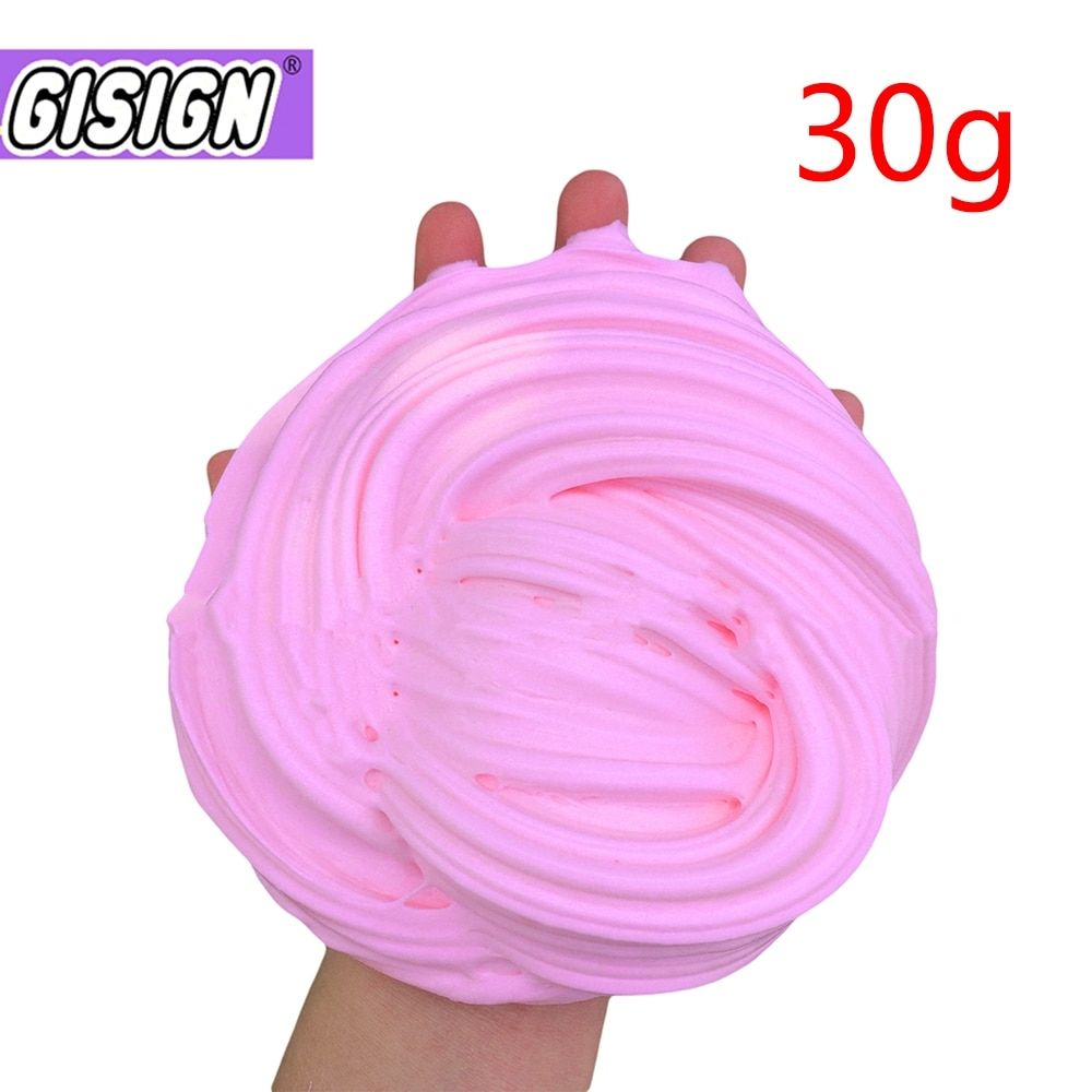 Antistress Toy Fluffy Slime Butter Plasticine Clay Light Colorful Modeling Clay