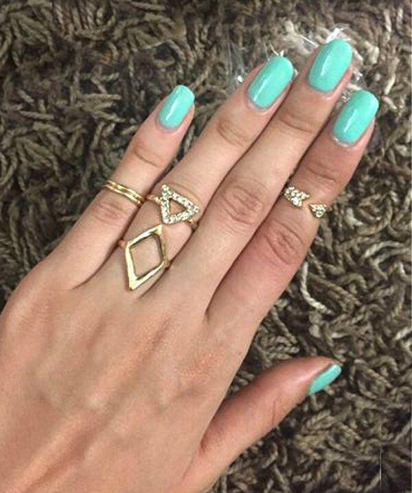 5 Gold Rings Gold Ring Set Boho Jewelry Midi Rings Gold Rings Boho