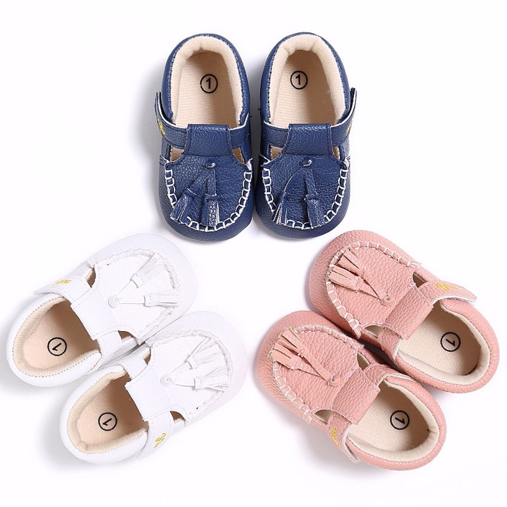 Infant Baby Boy Girl Crib Shoes Tassel Pre Walker Shoes Child Casual Shoes 0-18M
