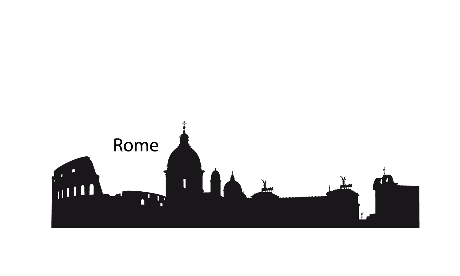 Roma Skyline City Silhouette 18426 Hd Wallpapers Png 1500