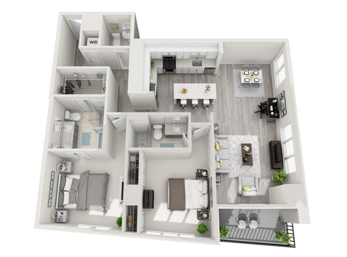 Penthouse Townhome 1 Or 2 Bedroom Apartment Live In Luxury At