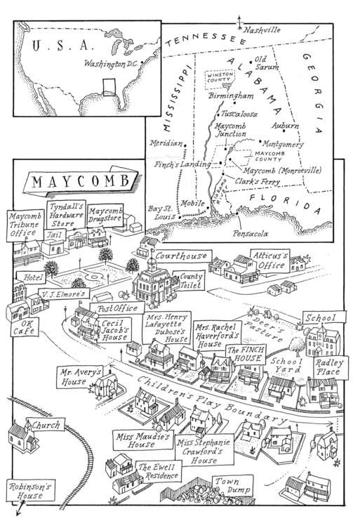 Map of the Week: A Compendium of Hand Drawn Goodness | Maycomb ...