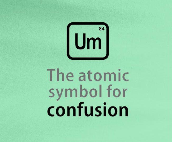 Periodic elements big bang theory bazinga um the atomic symbol for periodic elements big bang theory bazinga um the atomic symbol for confusion tee t shirt urtaz Image collections