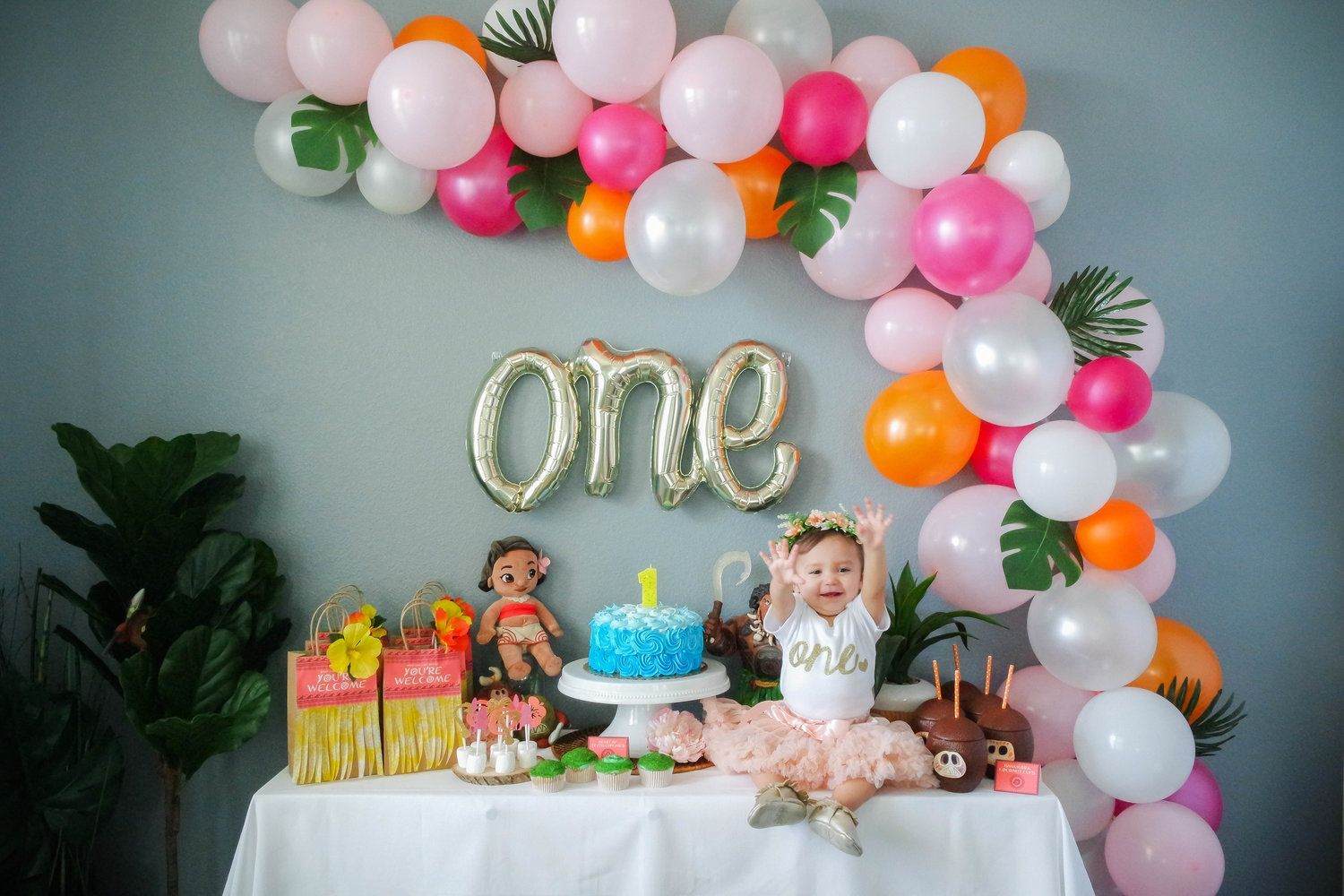 Birthday Party Themes For 1 Year Old Moana Birthday Party Theme Girl Birthday Decorations Girls Birthday Party Themes
