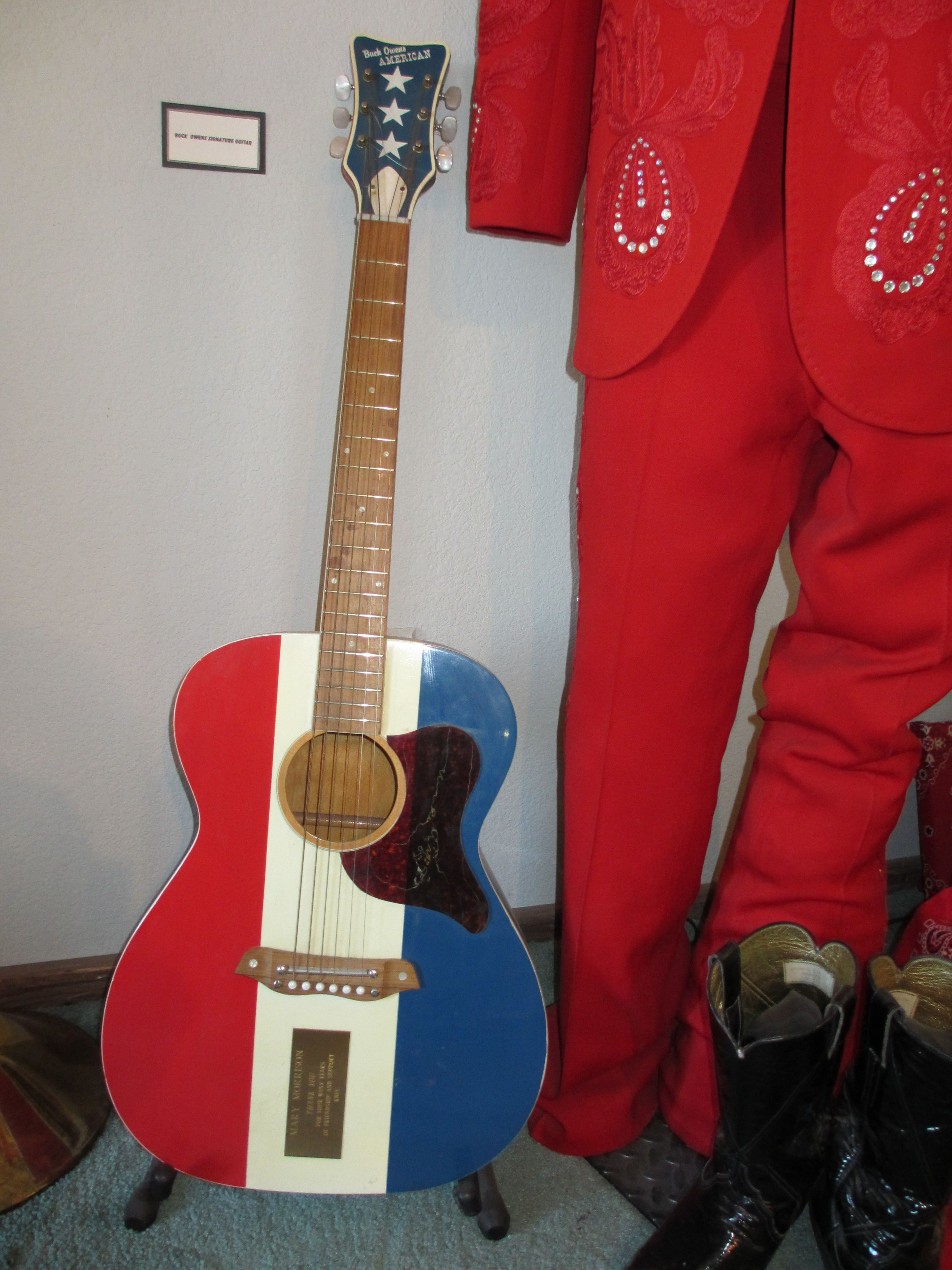 Buck Owens Museum Buck Owens Guitar Exhibited At The House Of