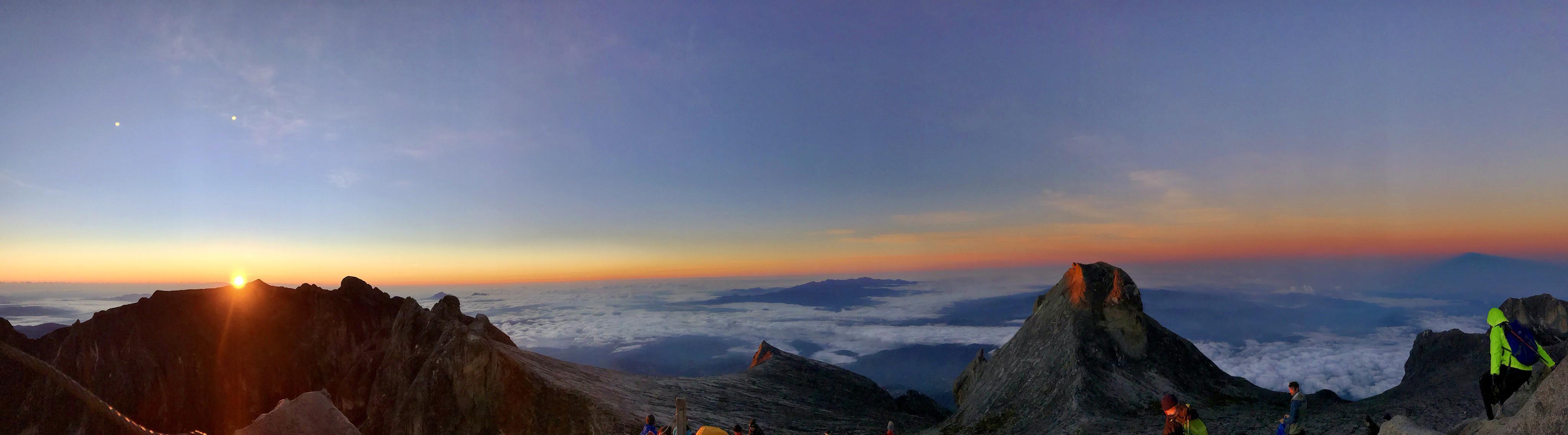 Sunrise at 4095.2m Mount Kinabalu Sabah Malaysia Camping