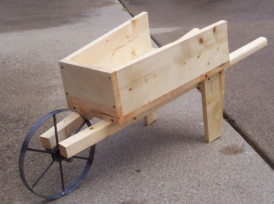old wood wheelbarrow plans pots pinterest woods