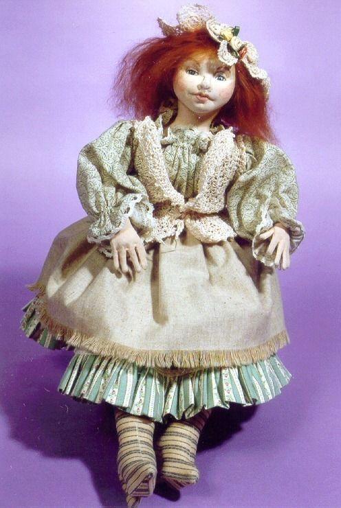 """16/""""  Cloth Art Doll /""""Cinderella/"""" By Caroline Erbsland E-PATTERN"""