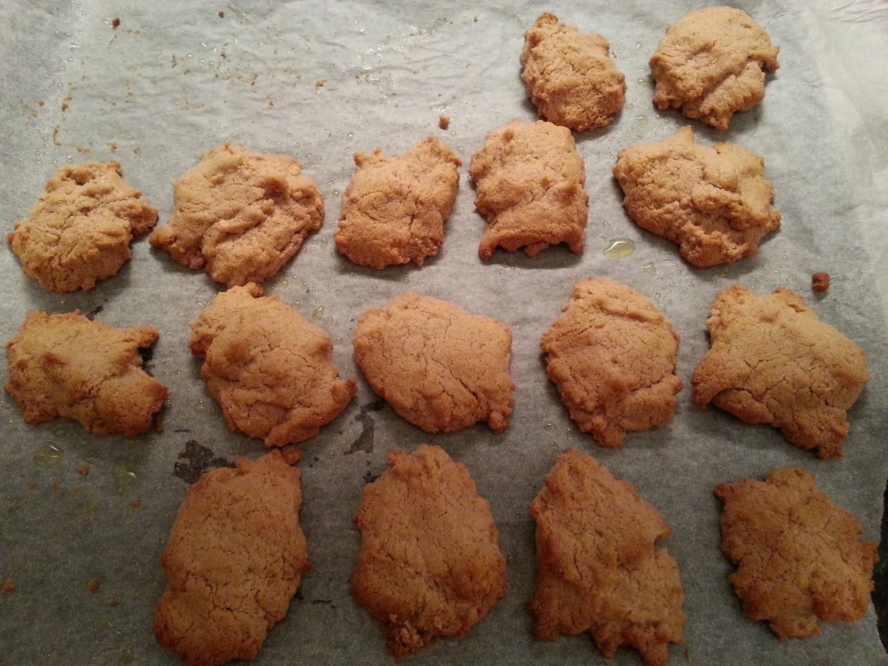 MARIA'S CULINARY ADVENTURES: South Beach Diet (Phase 1) Peanut Butter Cookies These bad boys just come out of the ovan. It uses splenda, an egg and some Whole Earth Organic Smooth Peanut butter (about...
