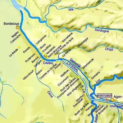 Details Of The Lateral Canal To Agen Agen France Garonne River