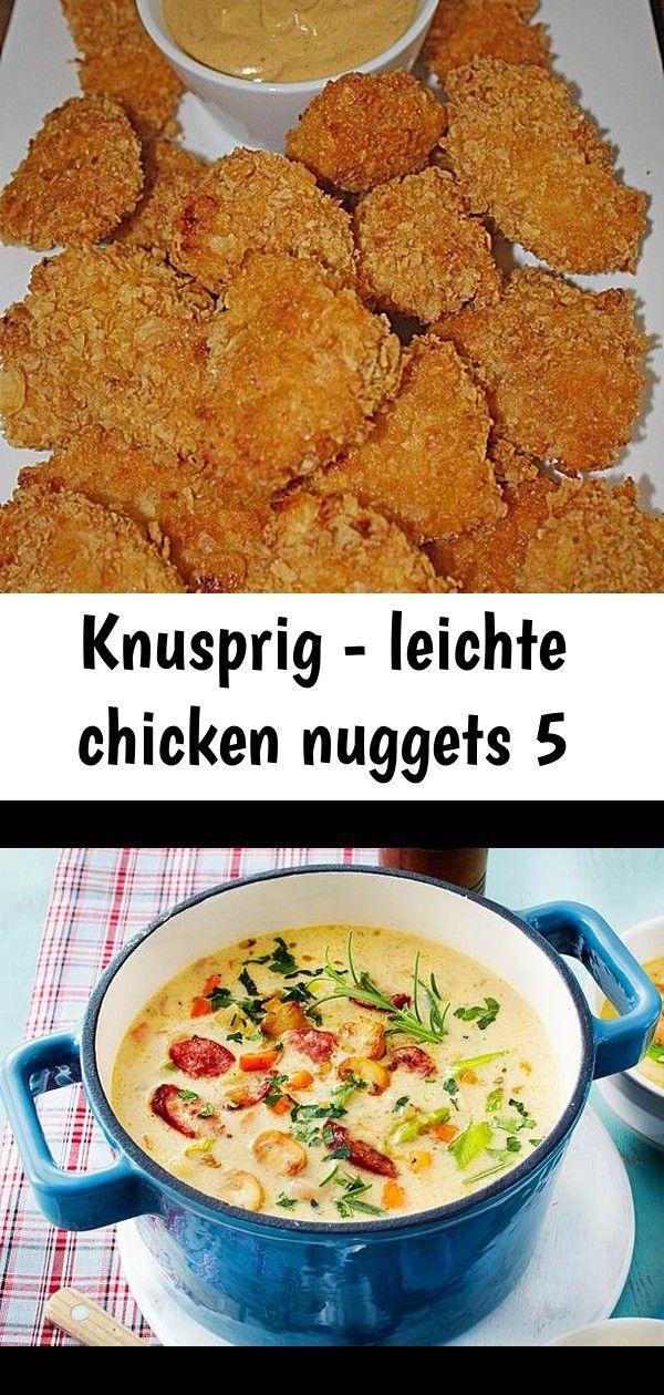 Knusprig  leichte chicken nuggets 5 Knusprig  leichte Chicken Nuggets Rezept mit Bild  Unser beliebtes Rezept für WiebeiOmiSuppe mit Mettenden und mehr als 55000 wei...