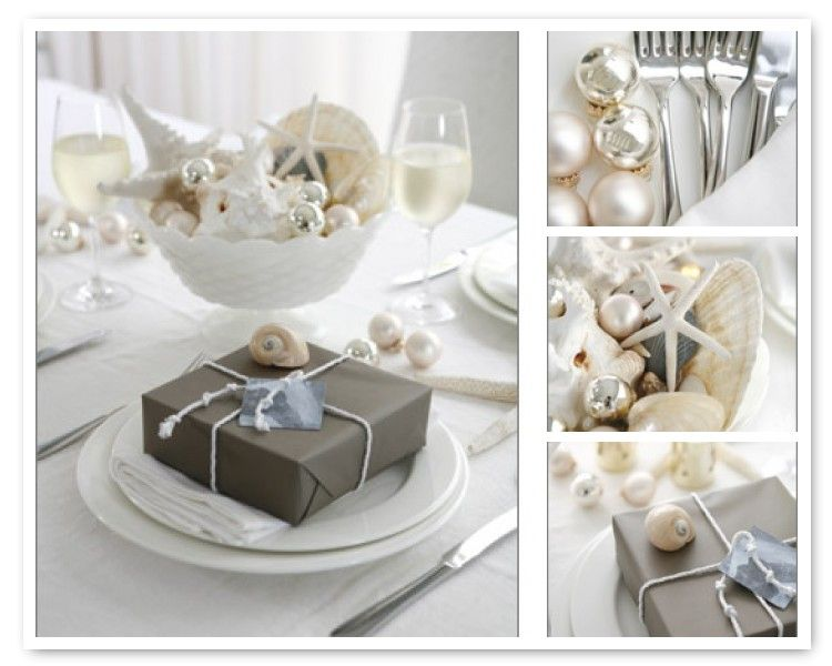 beach theme christmas table decorations by australia entertains