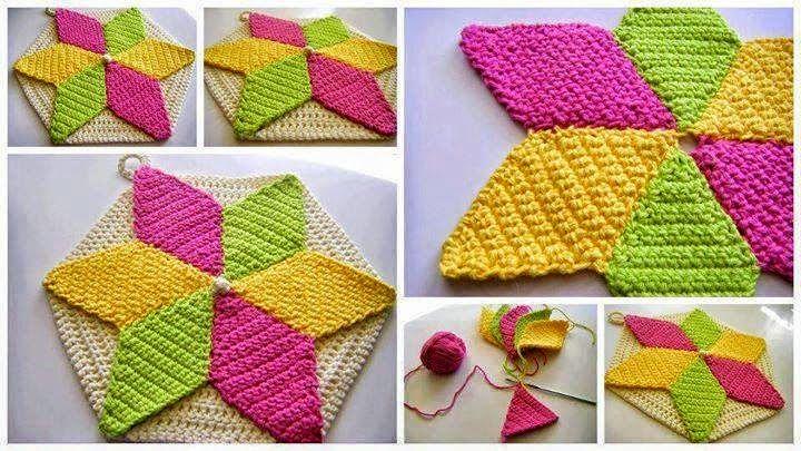 Ideas y patrones de cuatro modelos de flores al crochet | Todo ...